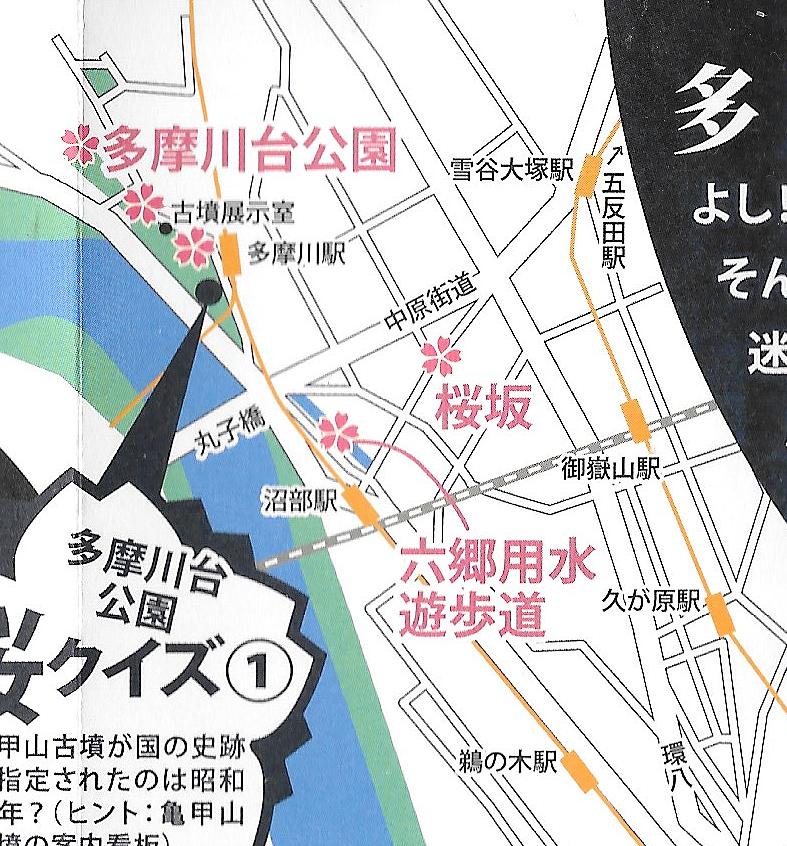 大田の桜の名所