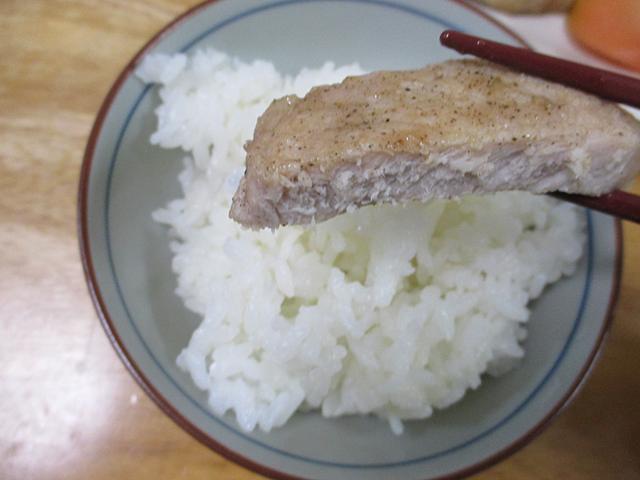 厚切り豚肉の塩焼き