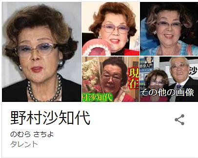 野村沙知代