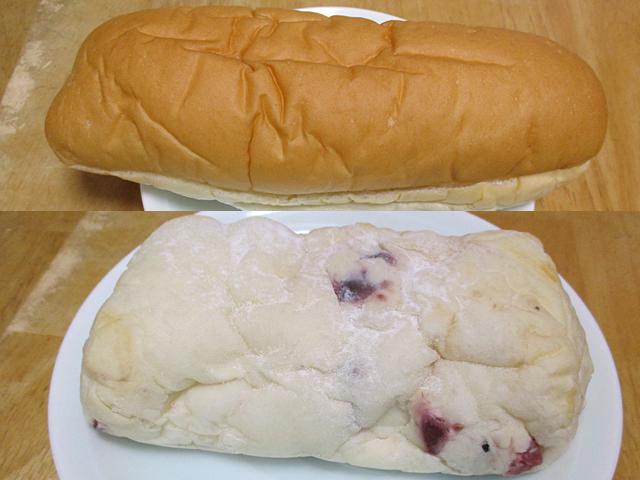 クリームチーズクランベリーとコッペパン北海道メロン&ホイップ