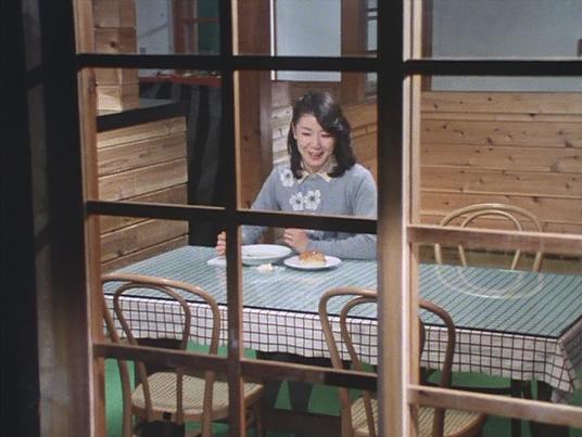 一人で食事をしていました