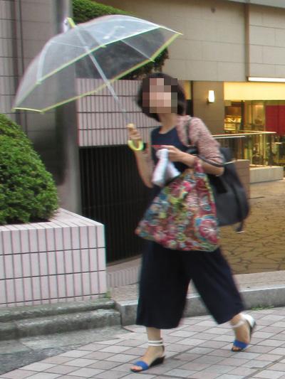 ビニ傘の人