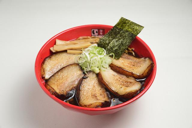 富山ブラック 麺家いろはの王様チャーシュー麺