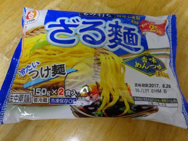 「もみ打ち」ざる麺香味めんつゆ(シマダヤ)のパッケージ