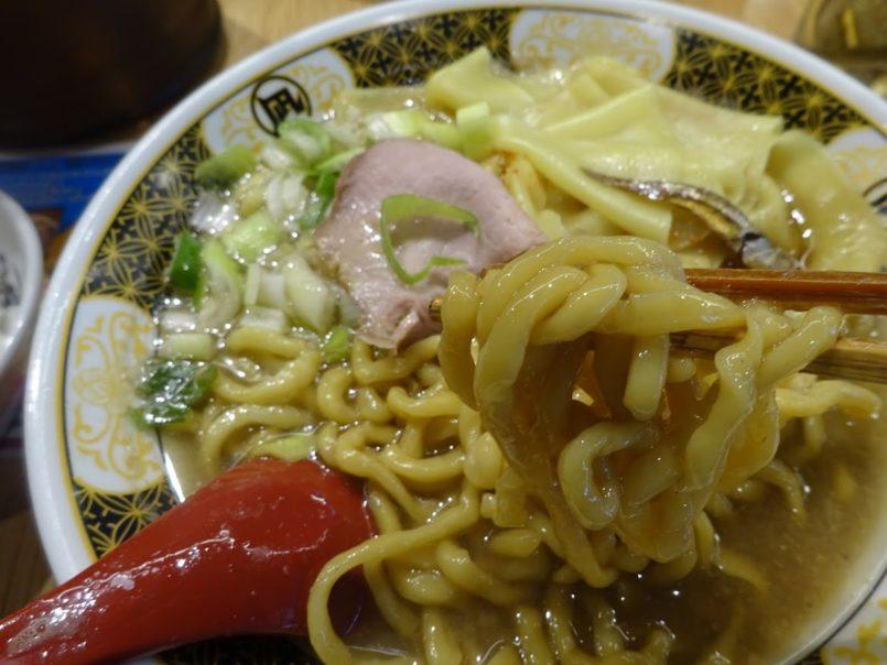 すごい煮干ラーメン凪五反田西口店はちぢれ麺と平打ち麺のダブルコンボと全国の厳選した毎月5トン以上の煮干しスープ