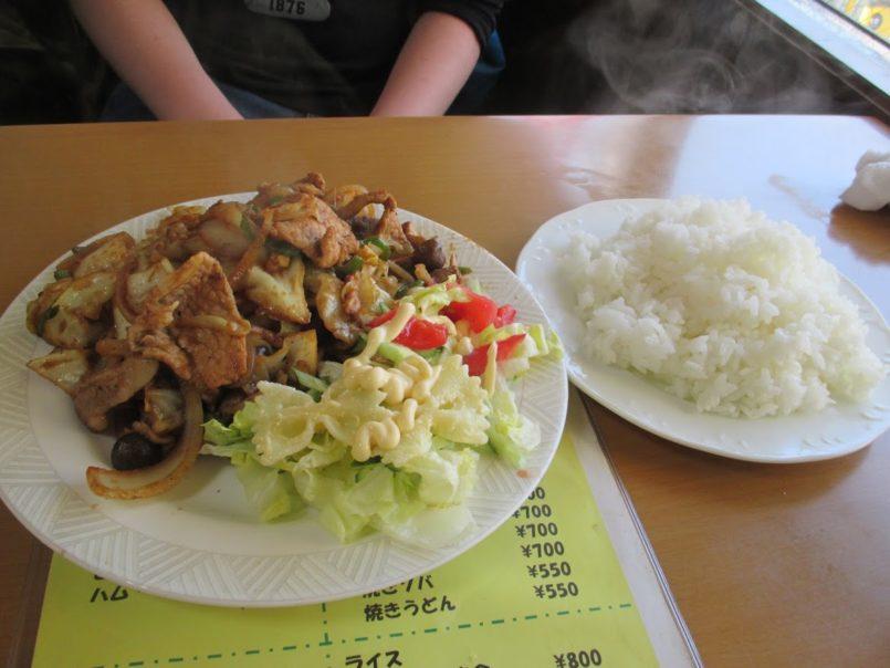 ずうの豚肉生姜焼き定食