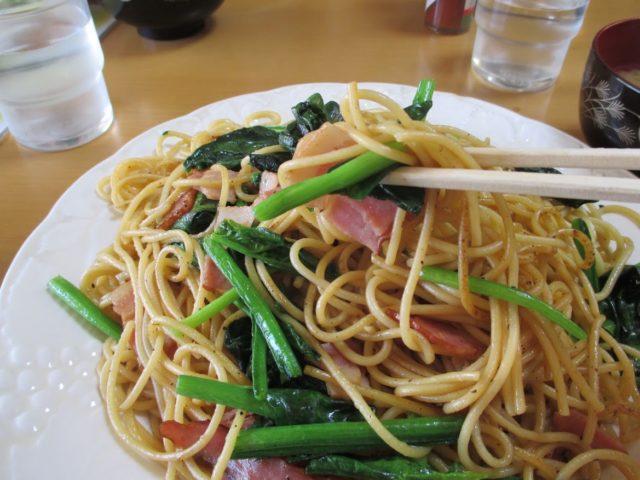 ずうのほうれん草のスパゲッティ