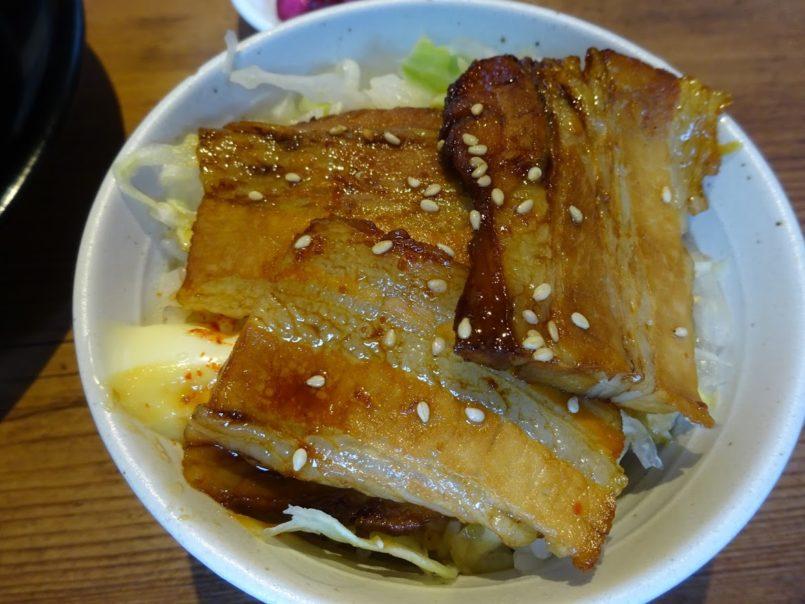 三三七大森店のミニ焼豚飯