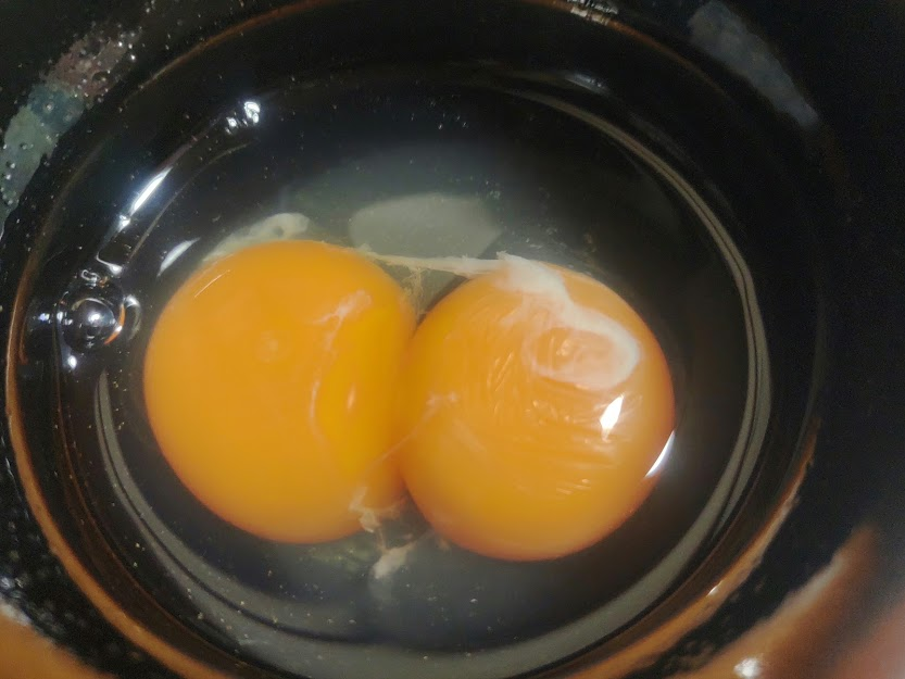 二黄卵はひとつの鶏卵の中に黄身が2個入っているもの。縁起がいいのか誕生はどのくらいの確率で誕生するか調べてみました