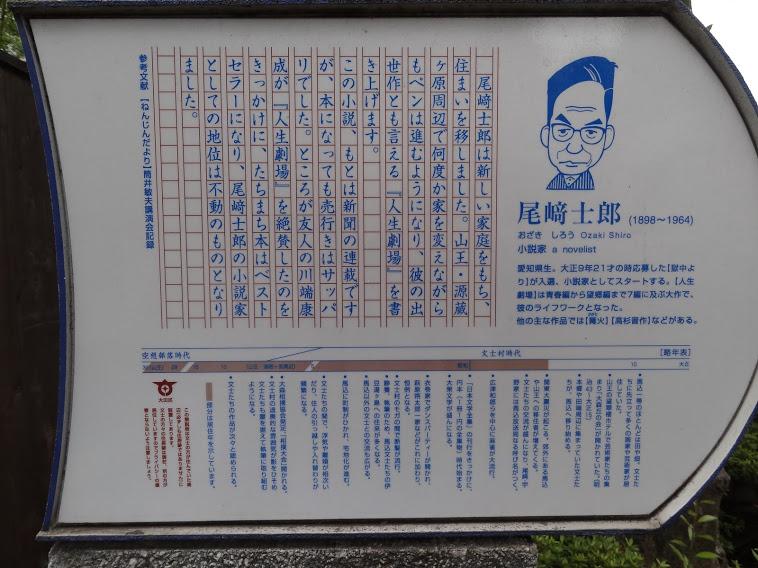尾崎士郎説明板