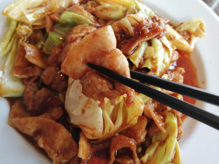 回鍋肉を『孤独のグルメSeason6』の第11話『東京都文京区茗荷谷の冷やしタンタン麺と回鍋肉』に刺激されいただきました