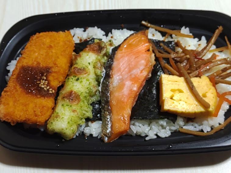 オーケーストアの198円のっけ鮭弁当弁当
