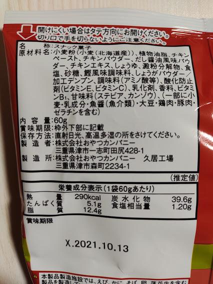 栄養成分と原材料