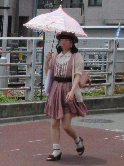 珍しい形の日傘